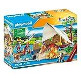 PLAYMOBIL Family Fun 70743 Familie beim Campingausflug, Ab 4 Jahren