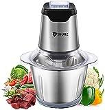 Zerkleinerer küche Elektrisch, IMURZ 600W Multizerkleinerer&universalzerkleinerer,1.2L Edelstahlschüssel,4-flügeliges Edelstahlmesser,Küchenwolf für Zwiebel,Fleisch, Gemüse, Obst, Babynahrung