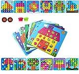 HUYIYI Mosaik Steckspiel für Kinder ab 2 Jahre,Lernspielzeug Geschenke ,Pädagogische Baustein Sets, Steckspielzeug Kinderspielzeug,Bunte Steckspiel,Spielzeug mädchen 2 3+ Jahre