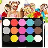 Skymore Kinderschminke Schminke Set, Face Paint Set, Schminkfarbe Kit für Kinder, Körperfarben mit Pinsel, Bodypainting Kit für Karneval