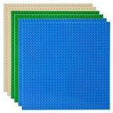Celawork Bauplatte für Classic Bausteine,Grundplatte,Kompatibel mit Allen gängigen Marken, 25.5*25.5cm Platten-Set für Kreatives Spielen, Lernspielzeug (6pcs (Blau,Sand,Grün))