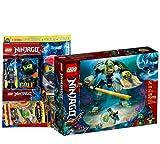 Lego Set - Ninjago Lloyds Hydro-Mech 71750 + Ninjago Heft Nr. 80 (Comics, Poster) inklusive Minifigur Cole im Taucheranzug