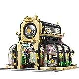 MAZOZ Bausteine Haus Corner Botanical Garden Modular Building, 2147 Klemmbausteine Architektur Modell Bausteine Konstruktionsspielzeug mit LED-BeleuchtungKompatibel mit Lego