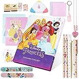 Disney Prinzessinnen Adventskalender 2021 Kinder Mädchen mit 24 Schreibwaren und Fanartikel Überraschungen
