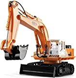 CYLYFFSFC Fernbedienung Bagger/RC Baufahrzeuge/ 11 Kanäle Heavy Duty Baustellen/LKW Sender mit Licht und Ton Kindertag für Jungen und Mädchen
