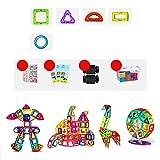 LWLEI Magnetische Bausteine Magnetblöcke Set Magnetspielzeug Konstruktion Fliesen Kid Kleinkinder 2D / 3D Shapes Baustein Set kreative pädagogische Geschenke-60pcs Song