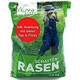 Premium Schattenrasen Rasensamen schnellkeimend für den Herbst 2,5kg = 70m²   dürreresistent, robust, tiefgrün   Ideal für Rasen Reparatur, Rasen Nachsaat, Neuansaat