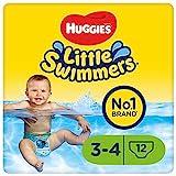 Huggies Little Swimmers Einweg-Schwimmwindeln für Babys und Kinder, Größe 3-4 (7-15 kg), 12 Bade-Windeln, Unisex