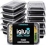 [10er Pack] 1-Fach Meal Prep Container Von Igluu - Essensbox, Lunchbox Mikrowellengeeignet, Spülmaschinenfest Und Wiederverwendbar - Luftdichter Deckelverschluss, BPA Frei