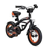 BIKESTAR Kinderfahrrad für Jungen ab 3-4 Jahre | 12 Zoll Kinderrad Cruiser | Fahrrad für Kinder Schwarz (matt) | Risikofrei Testen