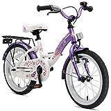 BIKESTAR Kinderfahrrad für Mädchen ab 4-5 Jahre   16 Zoll Kinderrad Classic   Fahrrad für Kinder Lila & Weiß   Risikofrei Testen