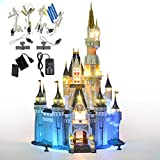 GEAMENT Verbesserte Version Licht-Set für Das Disney Schloss – kompatibel mit 71040 Lego Cinderella Princess Castle (Lego Set Nicht enthalten)