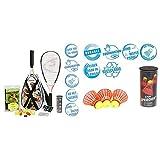 Speedminton® S900 Set – Original Speed Badminton/Crossminton Profi Set mit Carbon Schlägern inkl. 5 Speeder® & Fun Speeder® - 3er Pack Speed Badminton/Crossminton Einsteiger- und Kinderball