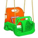 ANCHEER 3-in-1 Sitzschaukel für Kleinkinder, Kinder und Jugendliche abnehmbare aufhängende Sitz Outdoor Alter Von 6 bis 36 Monate (Grün)