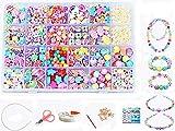 vytung 24 Arten Bunte Baby Stringing Perlen Spiel Schnürsystem Perlen Beads Spielzeug DIY Perlenschmuck für Kinder zum Basteln von Schmuck Ketten Armbändern (Color 6#)