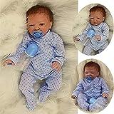 ZIYIUI 20Zoll 50cm Reborn Babys Puppe Boy Lebensecht Weiches Vinylsilikon Reborn Puppen Neugeborene Babypuppe Toddler Babies Kinder Spielzeug(Hot Models)