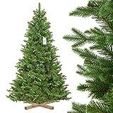 FairyTrees Weihnachtsbaum künstlich NORDMANNTANNE Edel, Material PU und PVC, inkl. Holzständer, FT25-180
