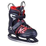 K2 Skates Jungen Schlittschuhe Joker Ice — black - red — EU: 35 - 40 (UK: 3 - 7 / US: 4 - 8) — 25D0303