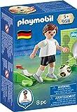 PLAYMOBIL 9511 Nationalspieler Deutschland, mit richtiger Kick-Funktion, Fußball und 3-seitig bespielbarer Papp-Torwand fürs Training, ab 5 Jahren