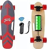 Caroma 77 cm Elektro Skateboard mit Drahtloser Bluetooth Fernbedienung für Erwachsene und Jugendliche, 20 km/h Höchstgeschwindigkeit, 350 W Motor (Rot)