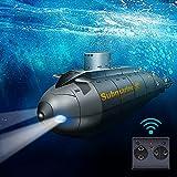 JIESEN RC ferngesteuertes Mini U-Boot, RC Schiff mit drahtloses Fernbedienung 6 Kanäle Raketenförmiges High Speed Boot 2.4GHz Spielzeug für Erwachsene Kinder ab 5