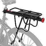 Yabtf Mountainbike Gepäckträger, Einstellbare Fahrrad Gepäckträger, Schnelle Installation MTB Gepäckträger mit Max. Zuladung 100kg für 24 bis 29 Zoll Fahrräder, aus Aluminiumlegierung, mit Reflektor