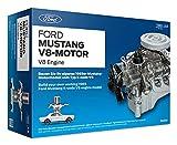 FRANZIS 67500 - Ford Mustang V8-Motor, hochwertiger Modell-Bausatz im Maßstab 1:3, 200 Bauteile zum Stecken und Schrauben, inkl. Soundmodul, Anleitung und Begleitbuch, für Auto-Fans ab 14 Jahren