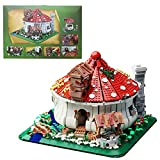 Pilzhaus-Modell Bausteine mit Licht, 2633 Stücke Klemmbausteine Konstruktion Spielzeugmodelle Kompatibel mit Lego