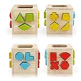 Geometrische Bausteinbox | Entwicklungsspielzeug | Motorische Fähigkeiten | Problemlösung | 2+ | Geschenk für Jungen oder Mädchen