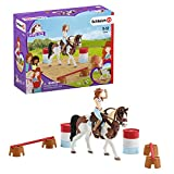 Schleich 42441 Horse Club Spielset - Horse Club Hannahs Western-Reitset, Spielzeug ab 5 Jahren,6.6 x 19 x 15 cm