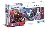 Clementoni 39544 Disney Frozen 2 – Puzzle 1000 Teile, Panorama Puzzle, Geschicklichkeitsspiel für die ganze Familie, farbenfrohes Legespiel, Erwachsenenpuzzle ab 10 Jahren