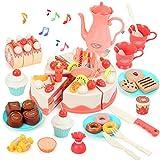 kramow Geburtstagstorte für Spielküche und Kaufmannsladen,Schneide Spielzeug für Kinder ab 3 4 5 6