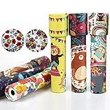 Vientiane Klassisches Kaleidoskop Spielzeug, 6 Stücke Kaleidoskop, Klassisches Papier-Kaleidoskop, Klassisches Spiel Lernspielzeug, Kinder Party Spielzeug Party Set (Zufällige Farbe)