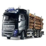 TAMIYA 56360 - 1:14 RC Volvo FH16 Holztransporter, RC-Truck, fernsteuerbarer LKW, Modellbau, Maßstab 1:14, Bausatz, Lastwagen, Hobby, Basteln, Modell, Zusammenbauen