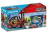 PLAYMOBIL City Action 70772 Gabelstapler mit Hubfunktion, Containermodul und Schwerlastpalette sowie weiteren Zubehör, ab 4 Jahren