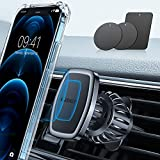 LISEN Handyhalterung Auto Magnet [6 Starke Magnete] Handyhalter fürs Auto Handyhalterung Magnet [Upgraded Haken CLAMP] Magnet Handyhalterung fürs Auto Lüftung 360°Drehbar Für iPhone Samsung Huawei usw