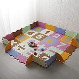 LUVODI Baby Puzzlematte Schaumstoffmatte Kinder Spielmatte, 16 Stück Kinderteppich 142x142cm Schutzmatte GS Zertifiziert