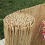 Enjoy-Quality Schilfrohrmatten - Länge 600 cm x Höhe 120 cm - Schilfmatten, Strohmatte - Sichtschutz oder Windschutz als Deko für Garten Balkon Zaun