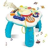 STOTOY Baby Musical Spieltisch, Musikalische Aktivitätstabelle für Kleinkinder, 36 Monate + Musikalischer Lerntisch für Kinder, Baby-Spielzeug für die frühe Bildung, Geschenk für Jungen&Mädchen
