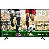 43' Hisense 4K HDR Ultra HD-Fernseher, DTS-Sound, DLED-Hintergrundbeleuchtung, Panel-Bittiefe 8 Bit + FRC, Eingangsverzögerung