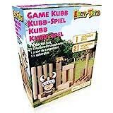 Eddy Toys - Kubb Game - Original Wikinger Wurfspiel für Draußen - 21 TLG