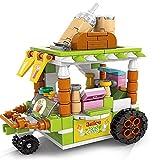 zeenca Lego bausteine,Unisex Lernspielzeug für Kleinkinder im Alter von Jahren Straßensnack-[8613-4 Frischer Saft] 189 Granulat - Farbbox