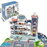 lijun 4 Schichten Parkhaus Spielzeug mit Aufzug Elektro & Manuelle Auto Spielzeugbahn