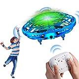 Qicool UFO Mini Drohne,Mini Drohne für Kinder,Kinderspielzeug,Fernbedienung und Handsensor RC Quadcopter Infrarot Induktions Flying Ball mit LED-Leuchten UFO-Spielzeug für Jungen und Mädchen