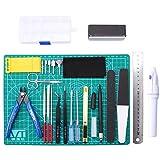 HSEAMALL 26 STÜCKE Gundam Modeler Grundwerkzeuge, Modellbau Werkzeuge für Automodell Montagebaukasten