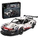 42096 Technic Porsche 911 RSR Rennwagen, Advanced Building Set Für Erwachsene, Fahrzeugbausatz, Exklusives Sammlermodell Static,50 * 20 * 14cm