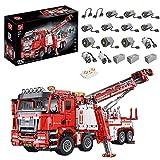 Intee Technic City Feuerwehr Leiter LKW Bausteine, 5030Pcs Feuerwehrauto Modell City Feuerwehr LKW Bausteine Kompatibel mit Lego City 60107