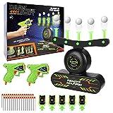 Elektrische Hover Zielscheibe für Nerf Pistole, Schwimmendes Ball Ziel mit 2 Blaster, 10 Schaumball, 30 Schaumstoffpfeilen, 5 Schießtafeln, USB aufladbar, Kinder Spielzeug Geschenk 5-15 Jahre Junge