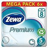 Zewa Premium Toilettenpapier 5-lagig Riesenpackung 6 Packungen (je 8 Rollen x 110 Blatt)