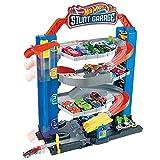 Hot Wheels GNL70 - Hot Wheels City Stunt Garage Spielset, Aufzug zum Befördern von Fahrzeugen, farbenfrohes Set, Geschenk für Kinder von 3 bis 8 Jahren